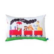 .Personalised Cushion for kids - Animal Train Design