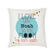 .Personalised Cushion for kids - Boys- I love you to the moon & back