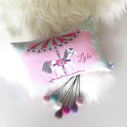 .Personalised Cushion for kids - Carousel