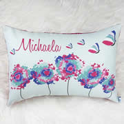 .Personalised Cushion for kids - Dandelion and Butterfly Design