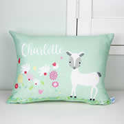 .Personalised Cushion for kids - Girls Deer