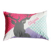 .Personalised Cushion for kids - Girls Deer Head