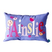 .Personalised Cushion for kids - Classic Purple Design