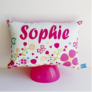 .Personalised Cushion for kids - Floral Garden Design