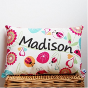 .Personalised Cushion for kids - Ladybug Girls Design