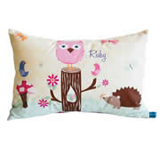 .Personalised Cushion for kids - Girls Animals Woodland Design