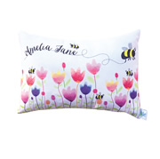.Personalised Cushion for kids - Spring Tulips Design