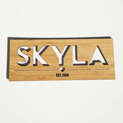 Personalised wooden bamboo name plaque - Girls Name Plaque