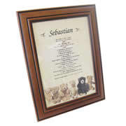 First Name History Teddy - Personalised Frame