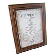 First Name History Teddy Pink - Personalised Frame