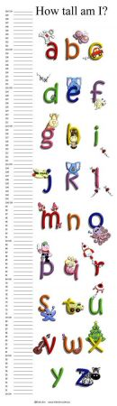 Growth Chart Personalised for Kids Growth Chart - Alphabet Bright