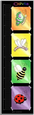 Growth Chart Personalised for Kids Growth Chart - Bug Set
