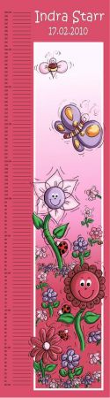 Growth Chart Personalised for Kids Growth Chart - Butterfly Garden