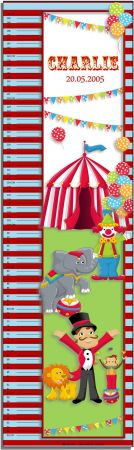 Growth Chart Personalised for Kids Growth Chart - Circus