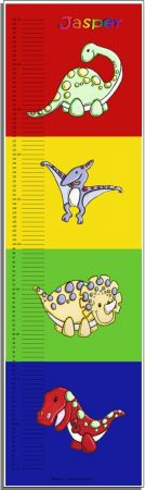 Growth Chart Personalised for Kids Growth Chart - Dinosaur Set