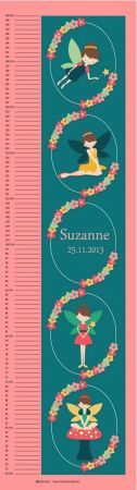 Growth Chart Personalised for Kids Growth Chart - Fairy