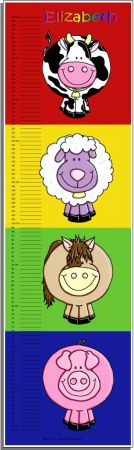 Growth Chart Personalised for Kids Growth Chart - Farm Set