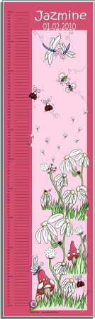 Growth Chart Personalised for Kids Growth Chart - Magical Garden