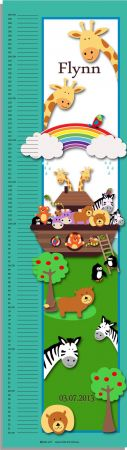 Growth Chart Personalised for Kids Growth Chart - Noahs Ark