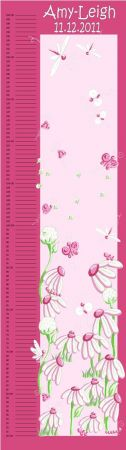 Growth Chart Personalised for Kids Growth Chart - Pink Bug Garden