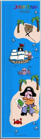 Growth Chart Personalised for Kids Growth Chart - Pirate