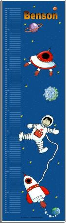 Growth Chart Personalised for Kids Growth Chart - Space