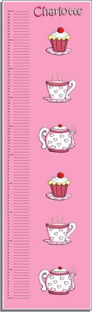 Growth Chart Personalised for Kids Growth Chart - Tea Party Set