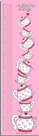 Growth Chart Personalised for Kids Growth Chart - Tea Party Tower