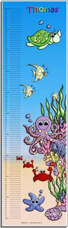 Growth Chart Personalised for Kids Growth Chart - Under the Sea