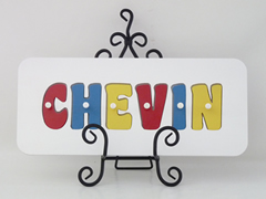 Personalised Kids Wooden Jigsaw Name Puzzle (Primary Colours)