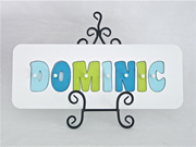 Personalised Kids Wooden Jigsaw Name Puzzle  (Aqua/Lime/Ice)
