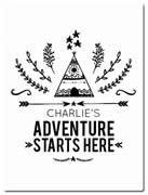 Fleece Blanket Personalised for Kids - Adventure Starts Here