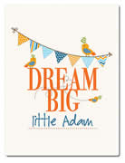 Fleece Blanket Personalised for Kids - Dream Big Boys