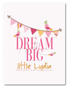 Fleece Blanket Personalised for Kids - Dream Big Girls