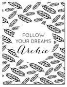 Fleece Blanket Personalised for Kids - Follow Your Dreams