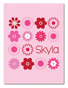 Fleece Blanket Personalised for Kids - Skyla