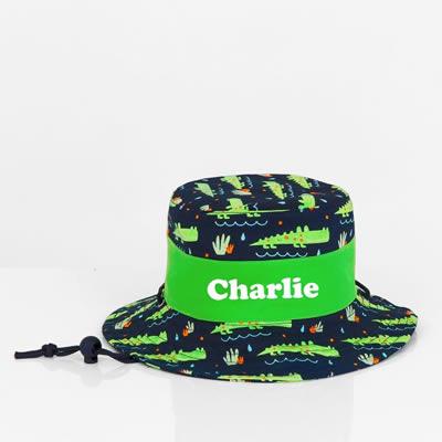 4b8d4026070 Stix and Stones Baby - .Hat - Pre School Kids Bucket Hat Personalised -  Crocodile
