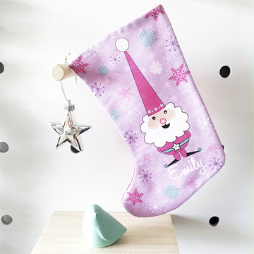 christmas stocking for kids personalised girls christmas gnome - Girls Christmas Stocking