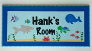 Personalised Name Plaque for kids wall or door Ocean Creatures