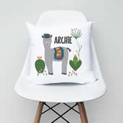.Personalised Cushion for kids - Alpaca Boys