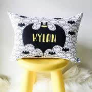 .Personalised Cushion for kids - Batman Inspired