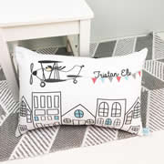 .Personalised Cushion for kids - Flying High Design