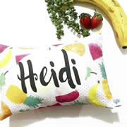 .Personalised Cushion for kids - Fruit Salad Design