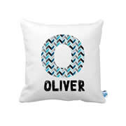 .Personalised Cushion for kids - Boys- Geometric Initial