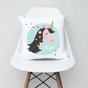 .Personalised Cushion for kids - Girls unicorn