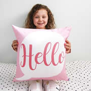 .Personalised Cushion for kids - Hello Girls