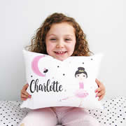 .Personalised Cushion for kids - Moon Dancer Design