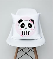 .Personalised Cushion for kids - Girls Panda Design