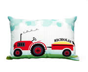 .Personalised Cushion for kids - Tractor Design