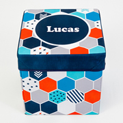 Storage Box Personalised for Kids  - Hexagon Matrix